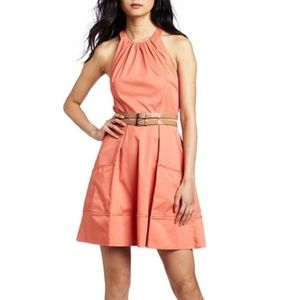 Jessica Simpson Halter A-Line Coral Dress Size 8